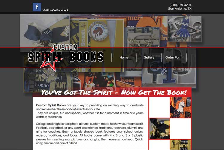 Custom Spirit Books Client Web Design