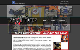 Custom Spirit Books Web Design